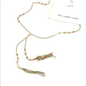 LOFT 🌟 golden tassel necklace 🌟 NWT $59.50